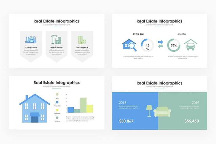Real Estate Infographics - PowerPoint Template