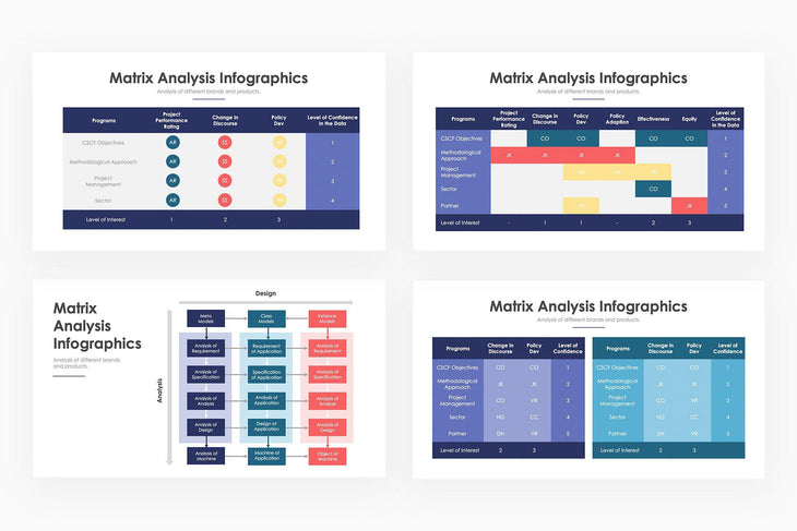 Matrix Analysis Infographics - PowerPoint Template