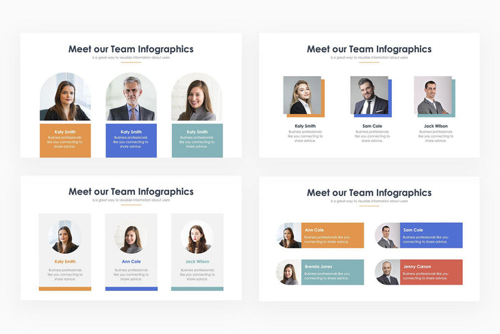 Meet Our Team Infographics 2 - PowerPoint Template