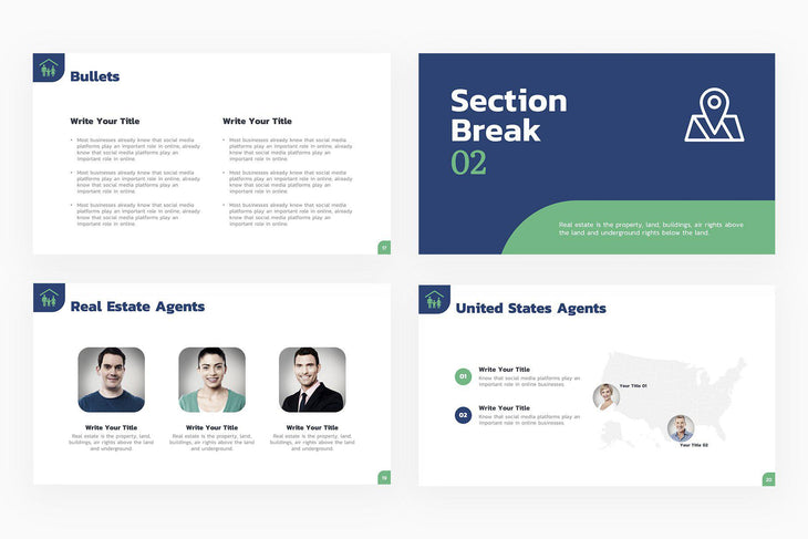 Real Estate Agents Presentation Template