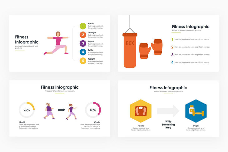 Fitness Infographics 2 - PowerPoint Template
