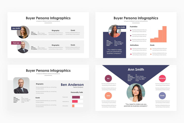 Buyer Persona Infographics - PowerPoint Template