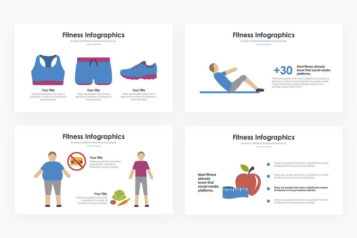 Fitness Infographics - PowerPoint Template