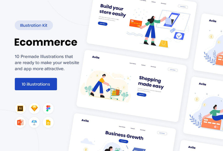 Avila Ecommerce Illustrations