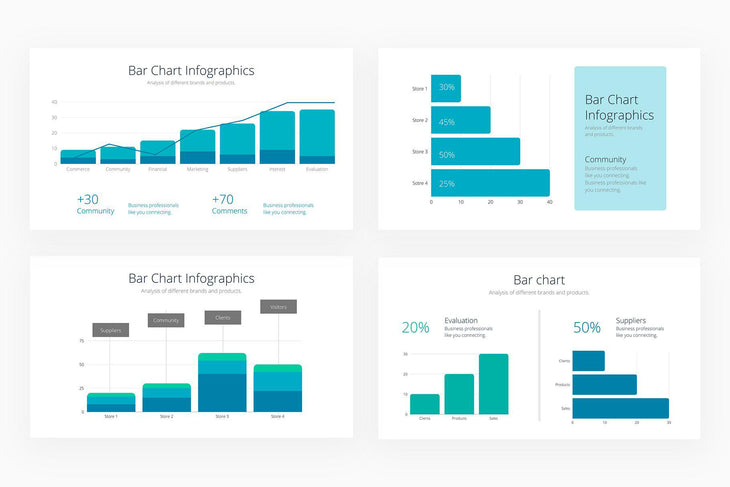 Bar Charts Infographics - Canva Template