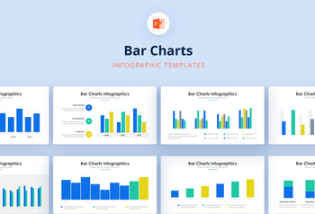 Bar Charts Infographics - PowerPoint Template 2