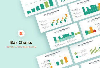 Bar Charts Infographics - PowerPoint Template 3