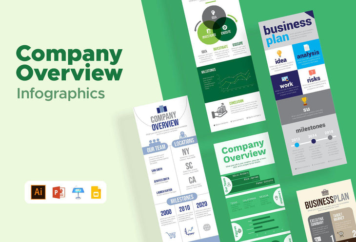 Berlin Company Overview Infographics Bundle
