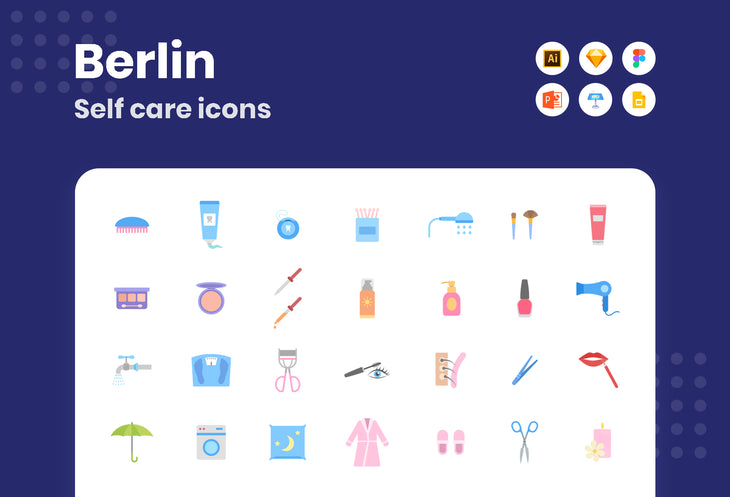 Berlin Self Care Icons