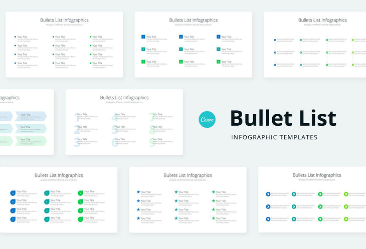 Bullets List Infographics - Canva Template