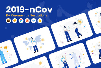 Coronavirus Illustrations Bundle