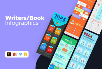 Writers and Book Infographics Bundle