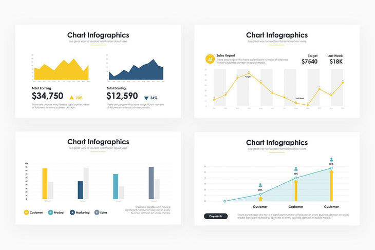 Chart Infographics 4 - PowerPoint Template