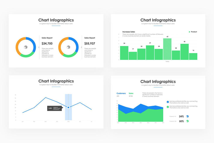 Chart Infographics 6 - PowerPoint Template