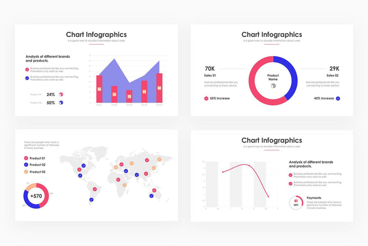 Chart Infographics 7 - PowerPoint Template