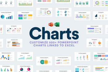 PPTCharts Bundle - Over 500 PowerPoint Charts Linked to Excel