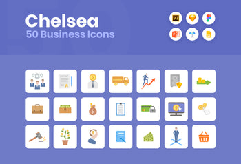 Chelsea Flat Business Icons