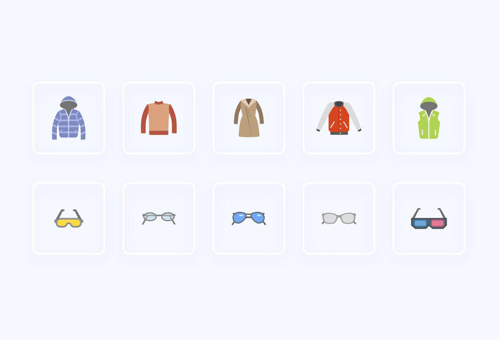Clothe Items Icons