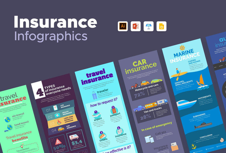 Colombes Insurance Infographics Bundle