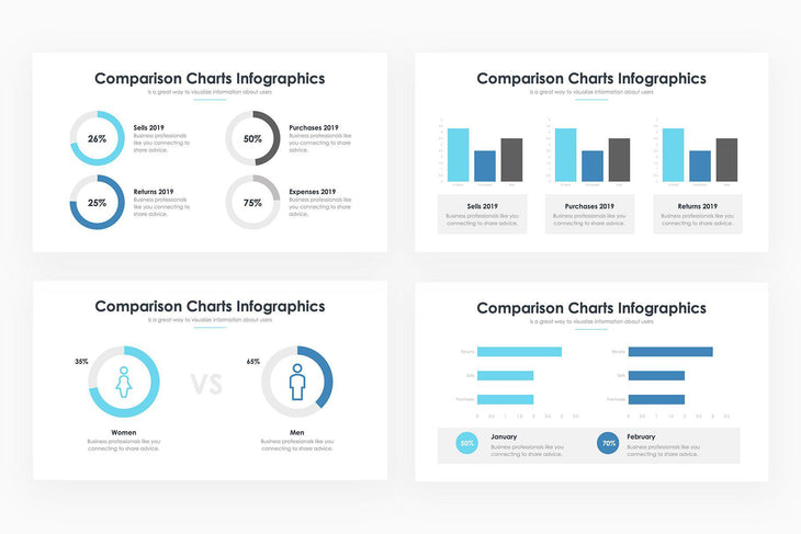 Comparison Charts 3 - PowerPoint Template
