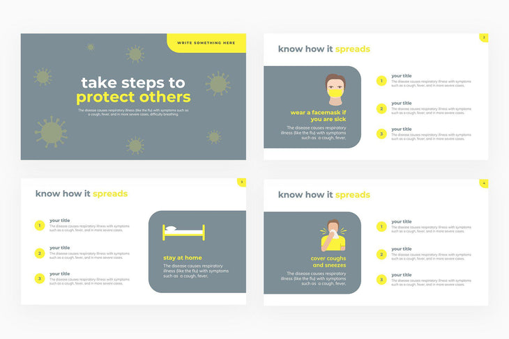 Take Steps to Protect Others Presentation Template