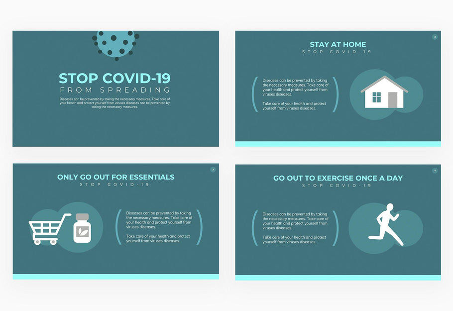 Stop COVID-19 from Spreading Presentation Template