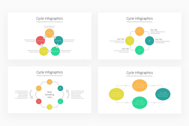 Cycle Infographics - Canva Template