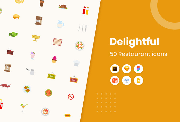 Delightful Restaurant Icons