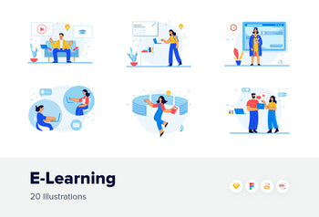 E-Learning Illustrations