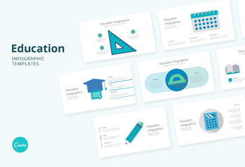 Education Infographics 2 - Canva Template
