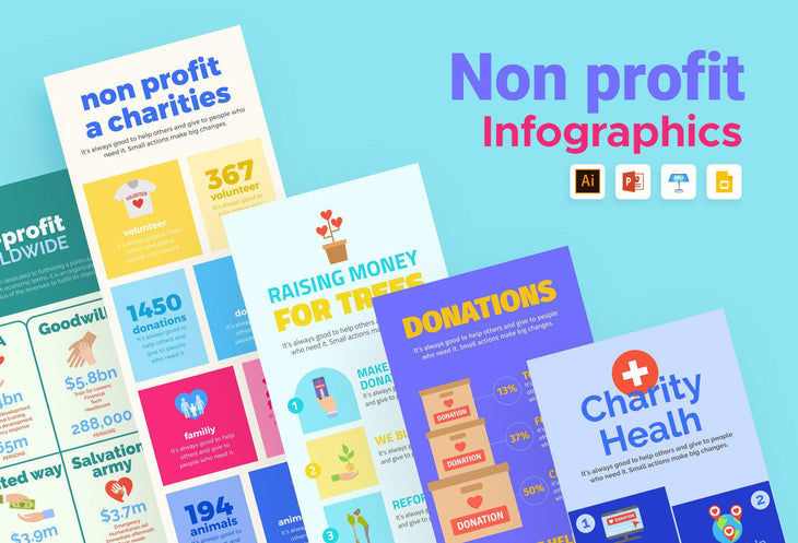 Farview Nonprofit Infographics Bundle