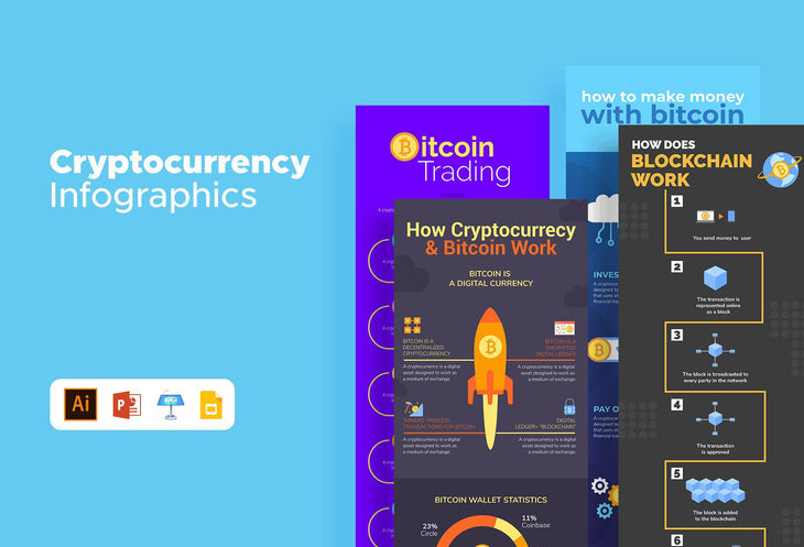 Franklyn Cryptocurrency Infographics Bundle