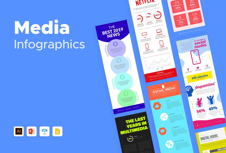 Media Infographics Bundle