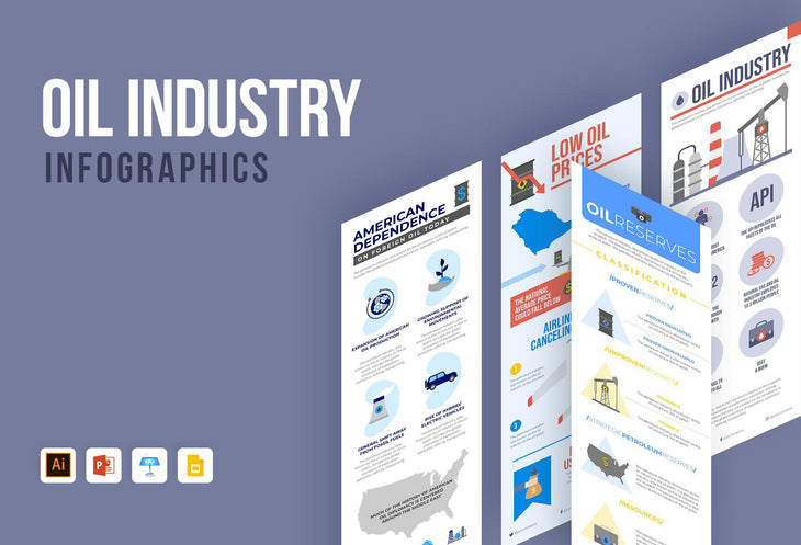 Harbor Oil Industry Infographics Bundle