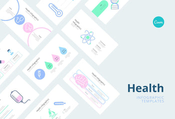 Healthcare Infographics 3 - Canva Template