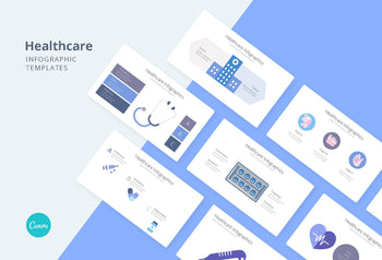 Healthcare Infographics - Canva Template
