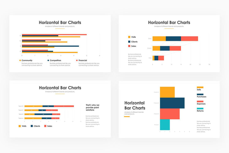 Horizontal Bar Charts 2 - PowerPoint Template