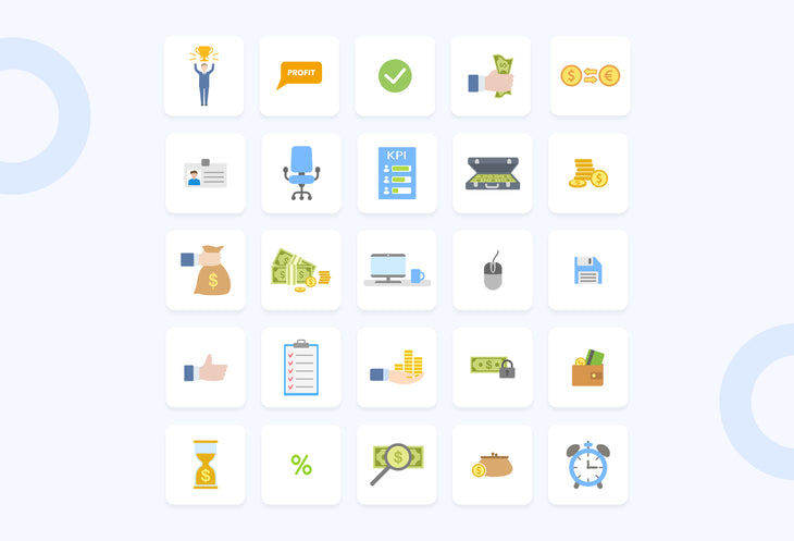 Porto Flat Business Icons