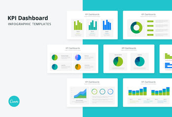 KPI Dashboards Infographics - Canva Template