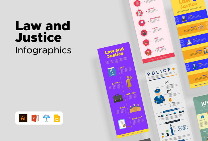 Lincoln Law and Justice Infographics Bundle