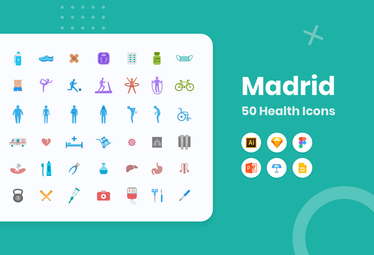Madrid Health Icons