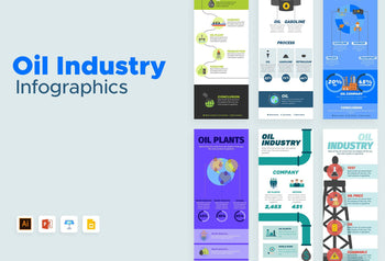 Manila Oil Industry Infographics Bundle