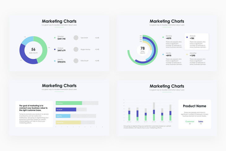 Marketing Charts - PowerPoint Template