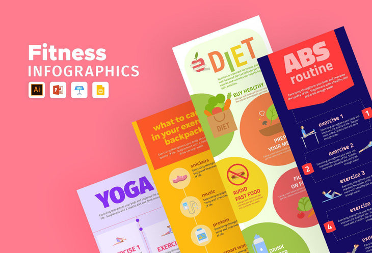 Melville Fitness Infographics Bundle