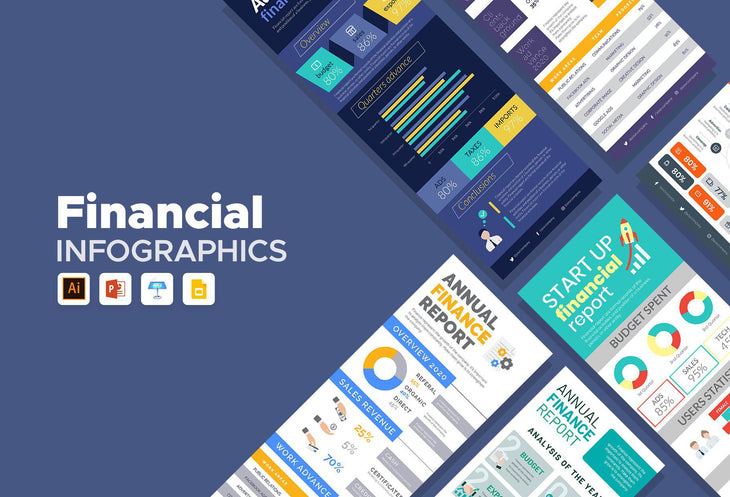 Milan Finance Infographics Bundle