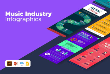 Music Industry Infographics Bundle