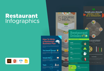 Restaurant Infographics Bundle