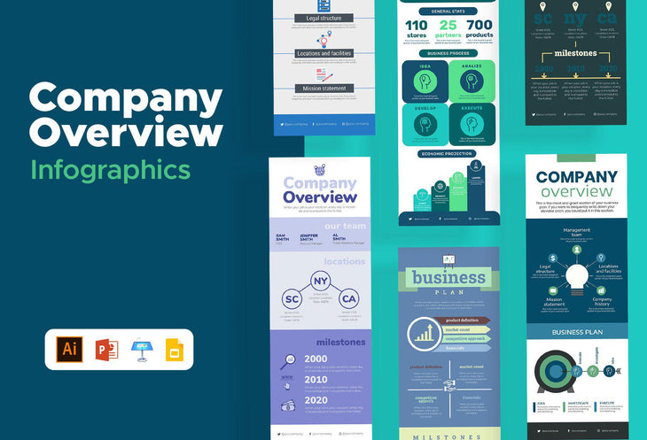 Silven Company Overview Infographics Bundle
