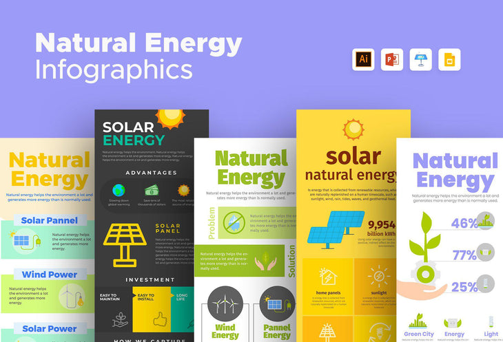 Soria Natural Energy Infographics Bundle