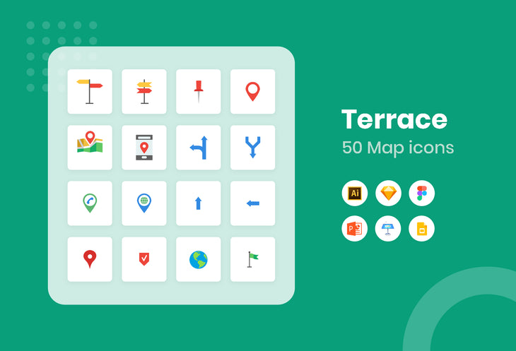 Terrace Map Icons